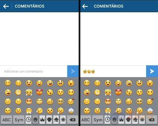 Como usar emoticons no instagram zigg como usar emoticons instagram ccuart Images