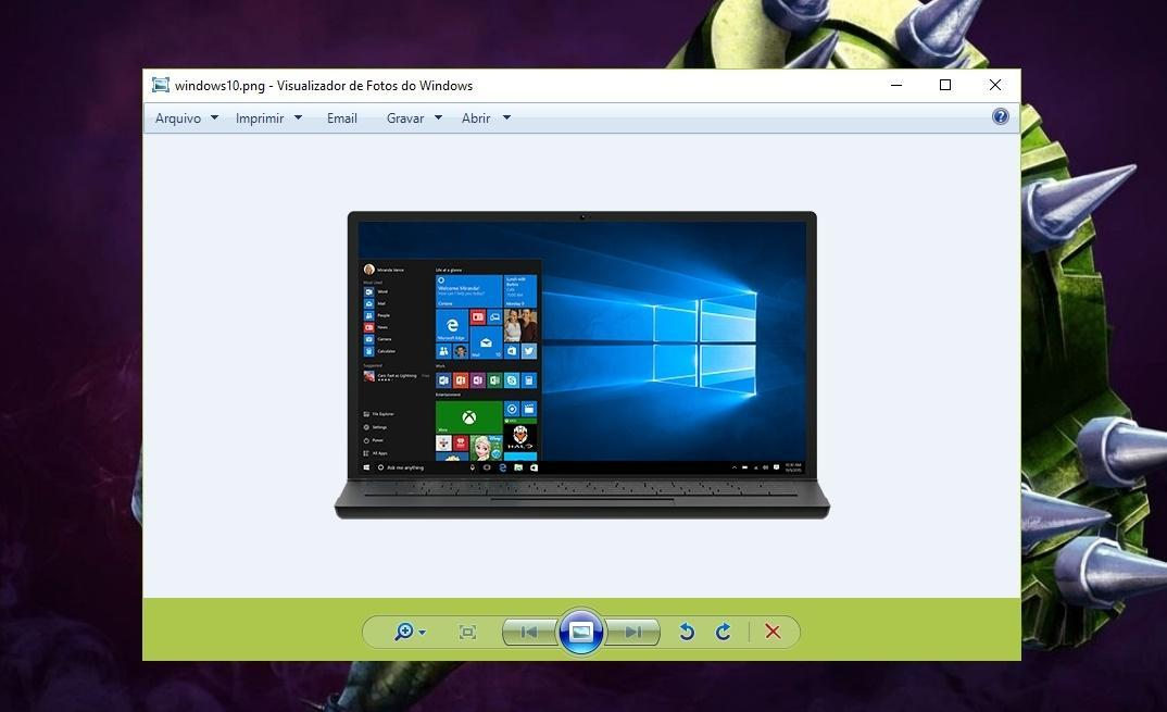 Visualizador de fotos do Windows