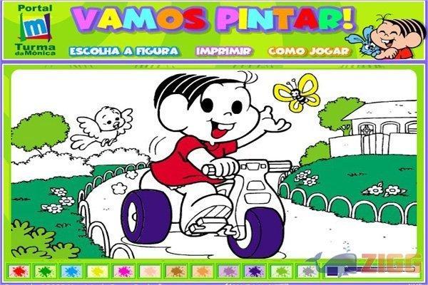 Vamos Colorir A Turma Da Monica Download Veja Online Baixar E