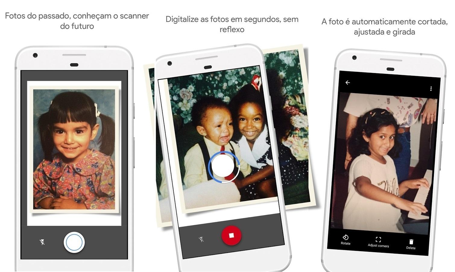 PhotoScan do Google Fotos para iPhone
